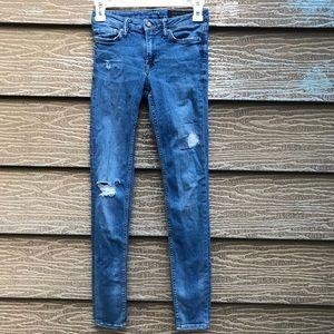 All Saints distressed denim skinny jeans